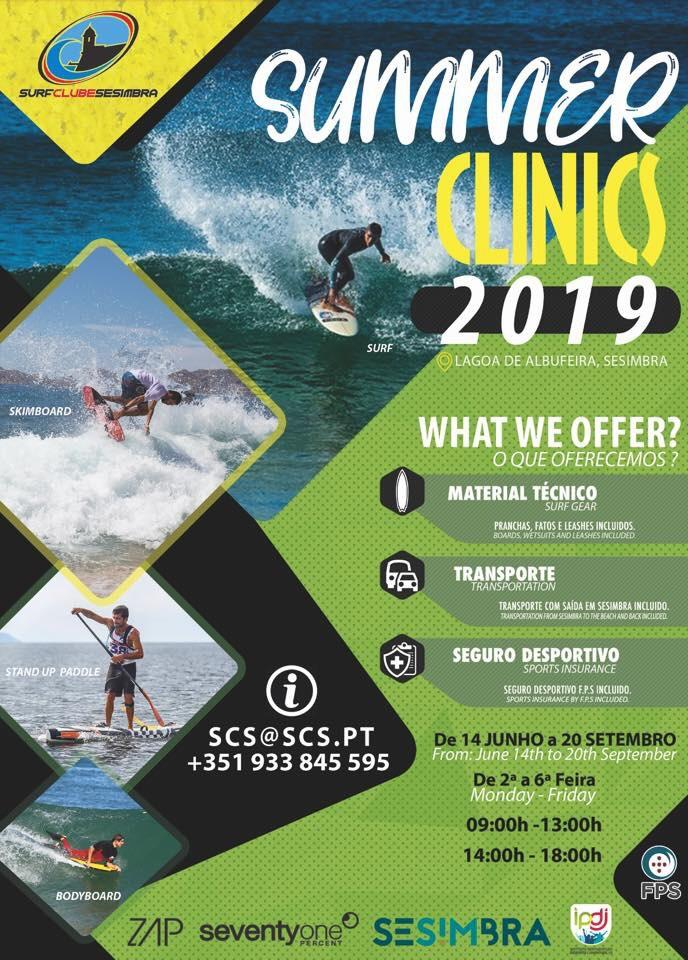 Cartaz das Summer Clinics 2019